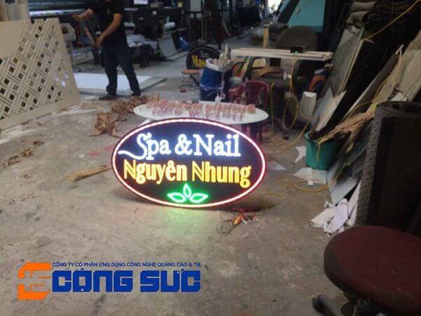 bien quang cao led cong suc da nang 001 600x450 - Hộp đèn vẫy đan led mặt Đà Nẵng