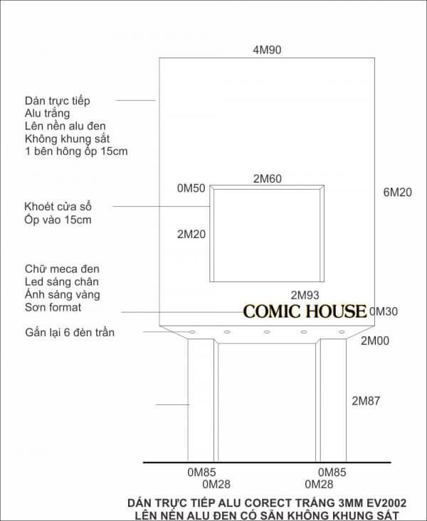 COMIC HOUSE 600x733 - CÔNG TRÌNH QUẢNG CÁO MẶT DỰNG ALU COMIC HOUSE